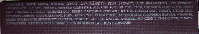 Capture ingrédients Ilia