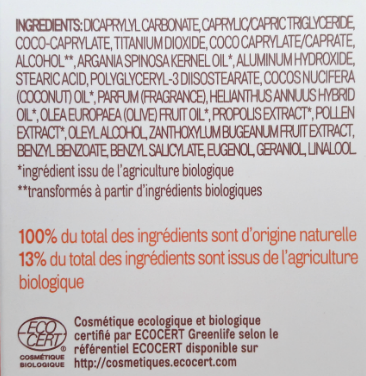 INCI composition spray solaire Acorelle SPF 30 biotifullpeople