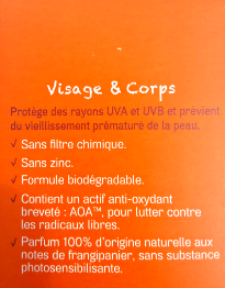 Spray solaire 30 et 50 Acorelle biotifullpeople